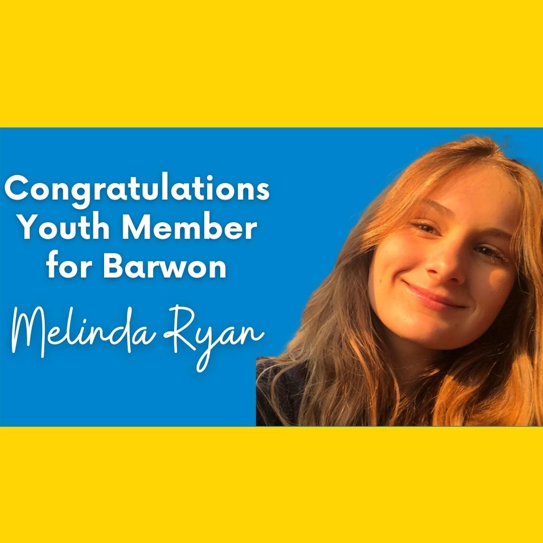 Congratulations Youth Member for Barwon - Melinda Ryan  Image