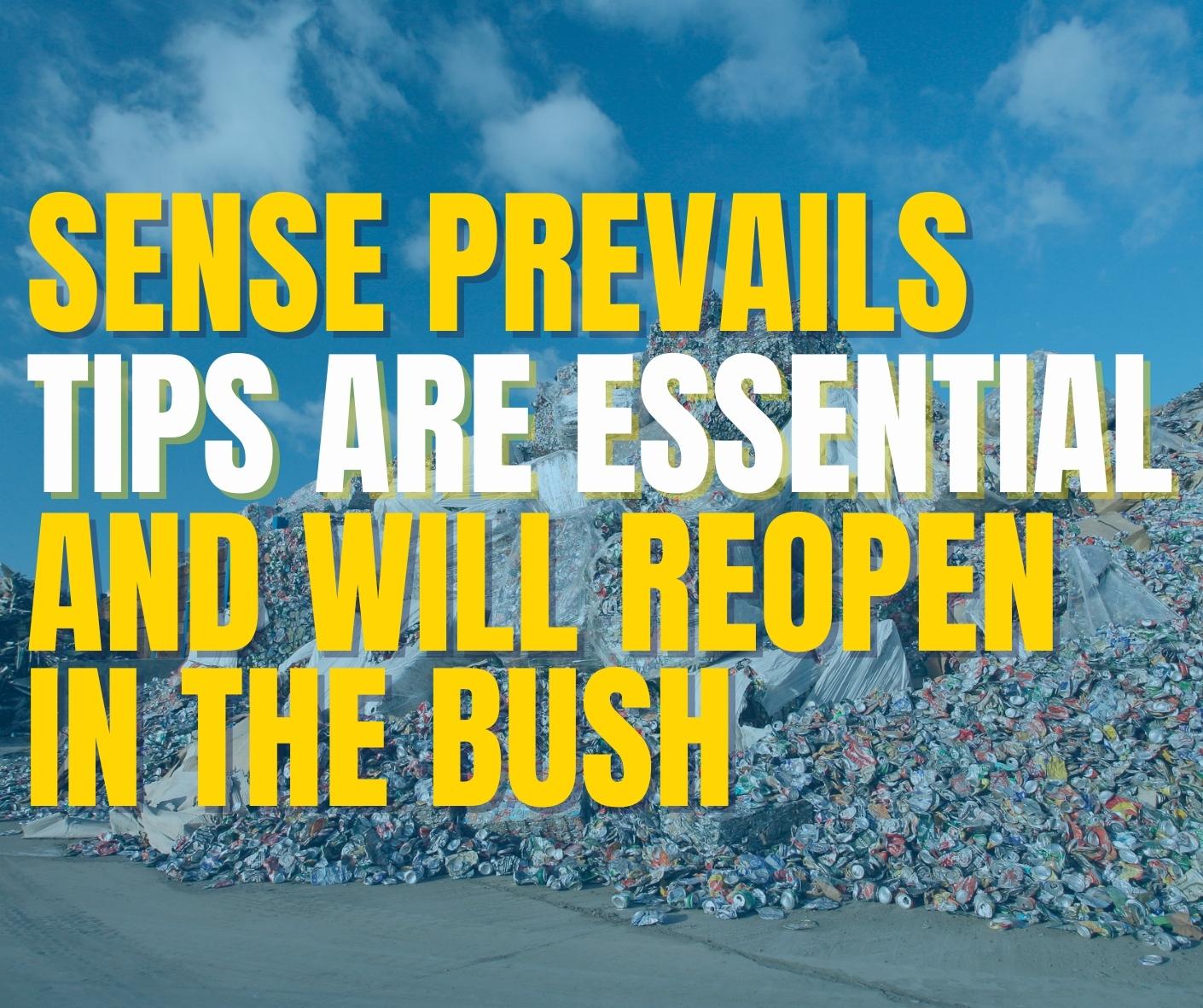 Sense prevails! Tips are essential Image