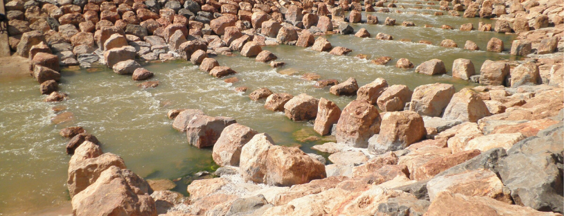 Re-establishment of natural rock weirs along the Darling should be a priority  Image