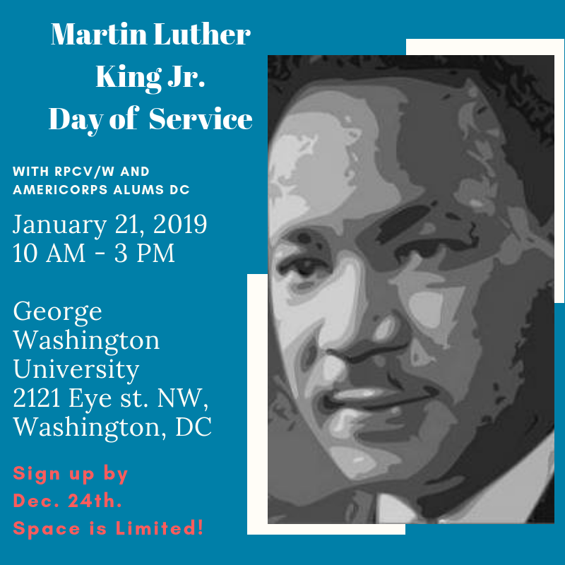 Martin Luther King Jr Day Of Service Rpcv W