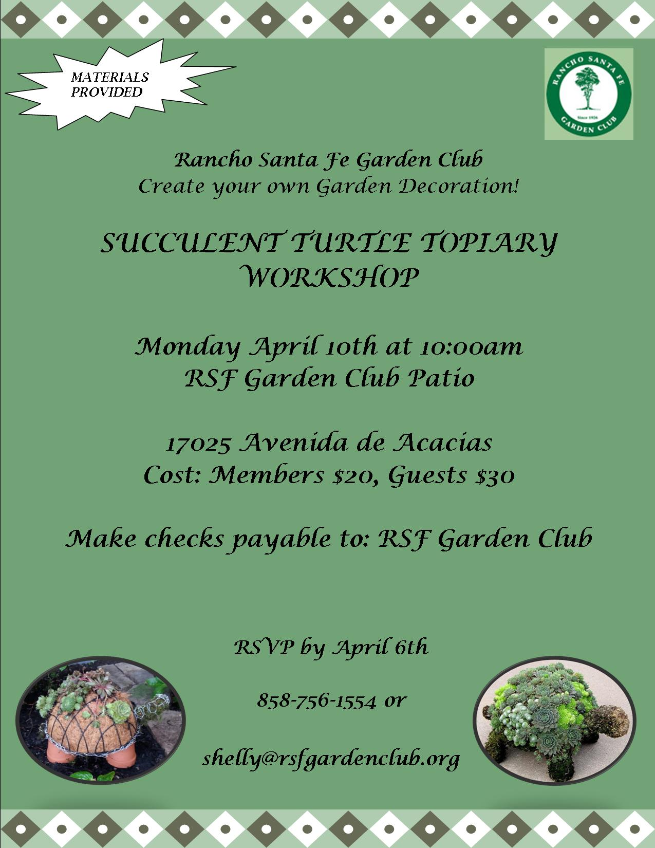 Succulent Turtles Workshop