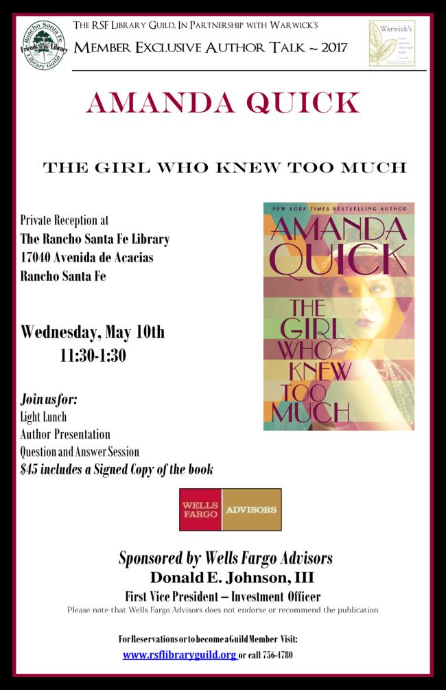 Amanda Quick Author Talk