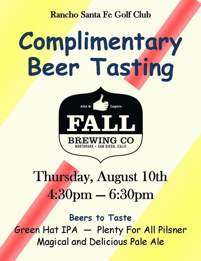 Beer Tasting Flyer