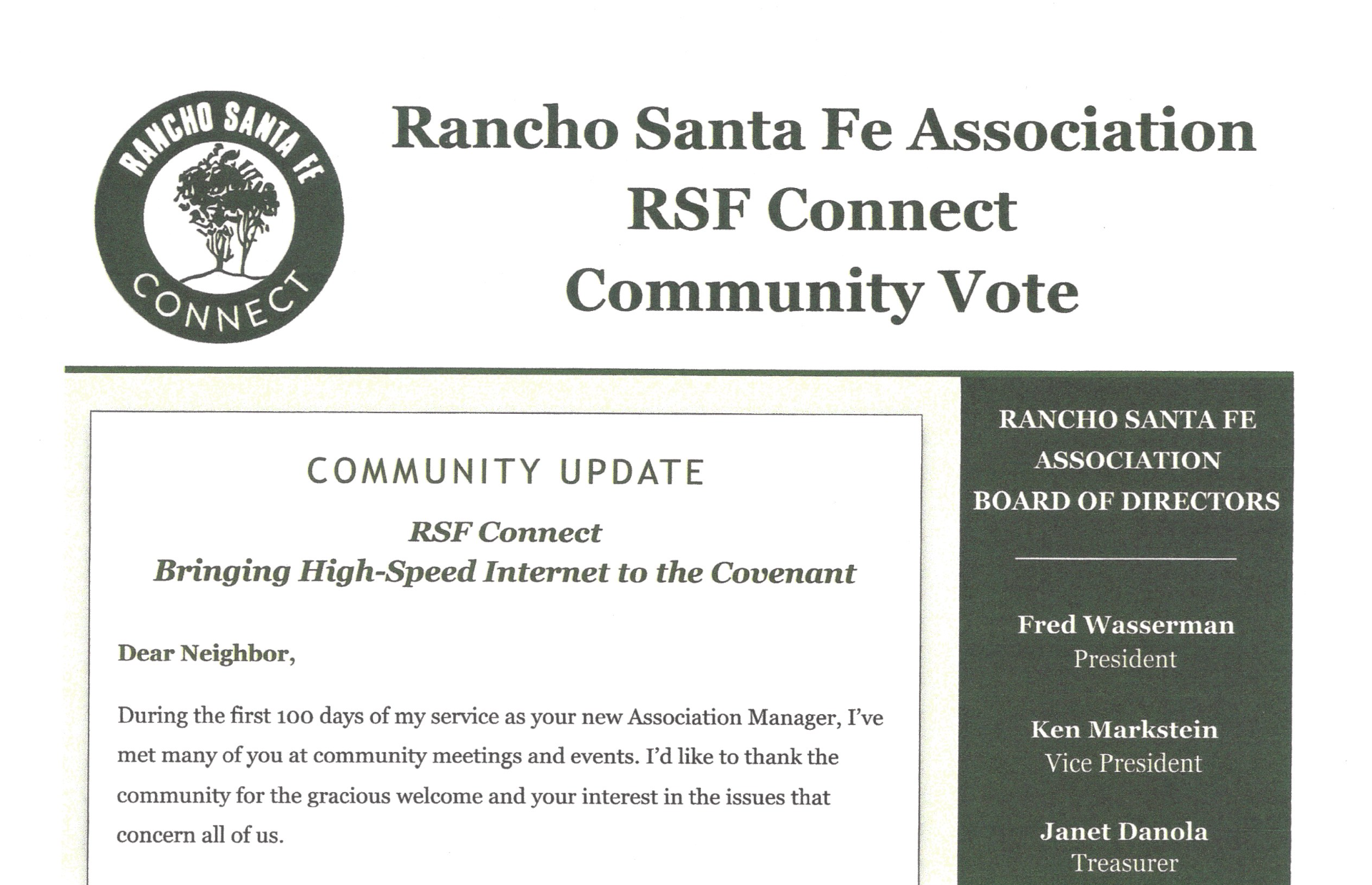 RSF Connect Mailer