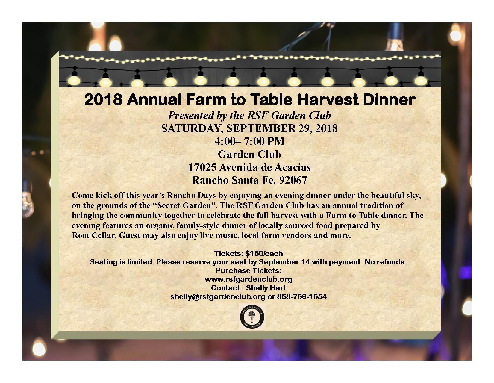 Farm to Table Harvest Dinner