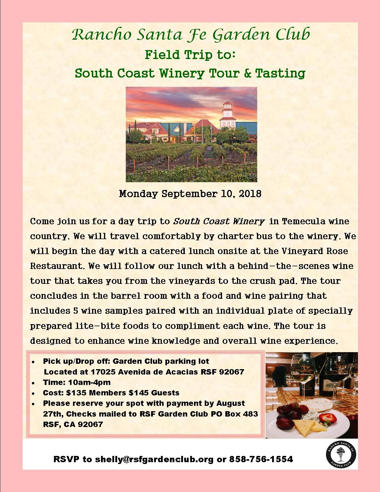 South Coast Winery Tour & Tasting