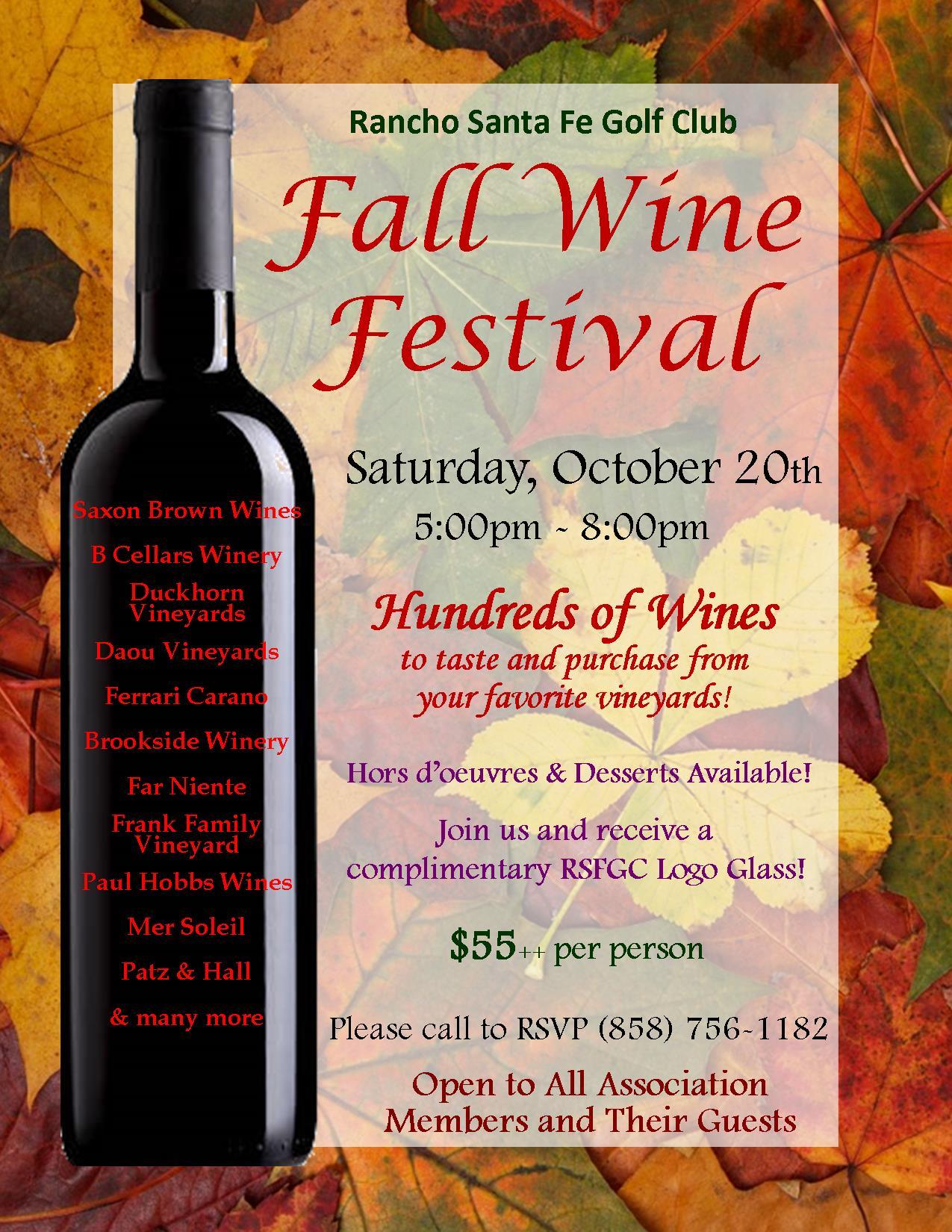 Fall Wine Festival 2018