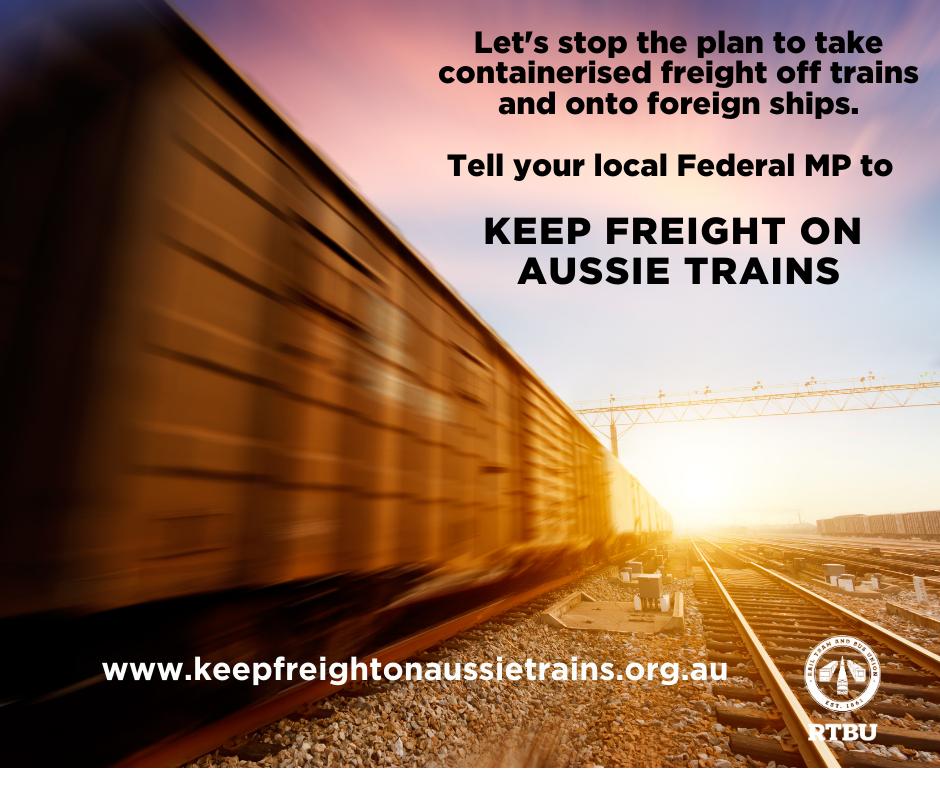 Keep freight on Aussie trains