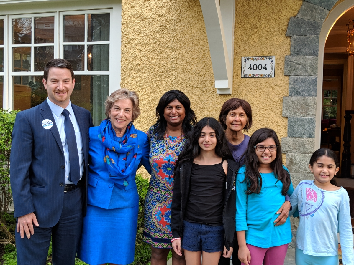 Jan Schakowsky and the Rubin Family