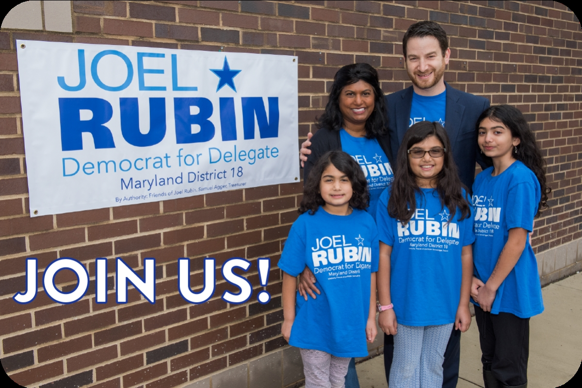 Join Joel Rubin for Delegate