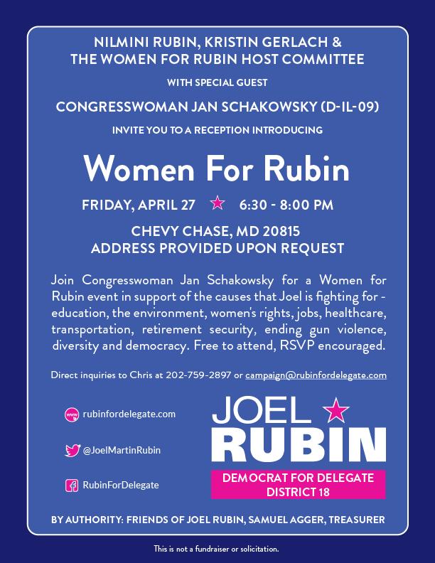 Women for Rubin Invitation