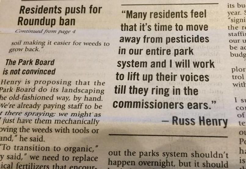 Pesticide Free Parks