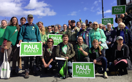 Paul Manly canvassing