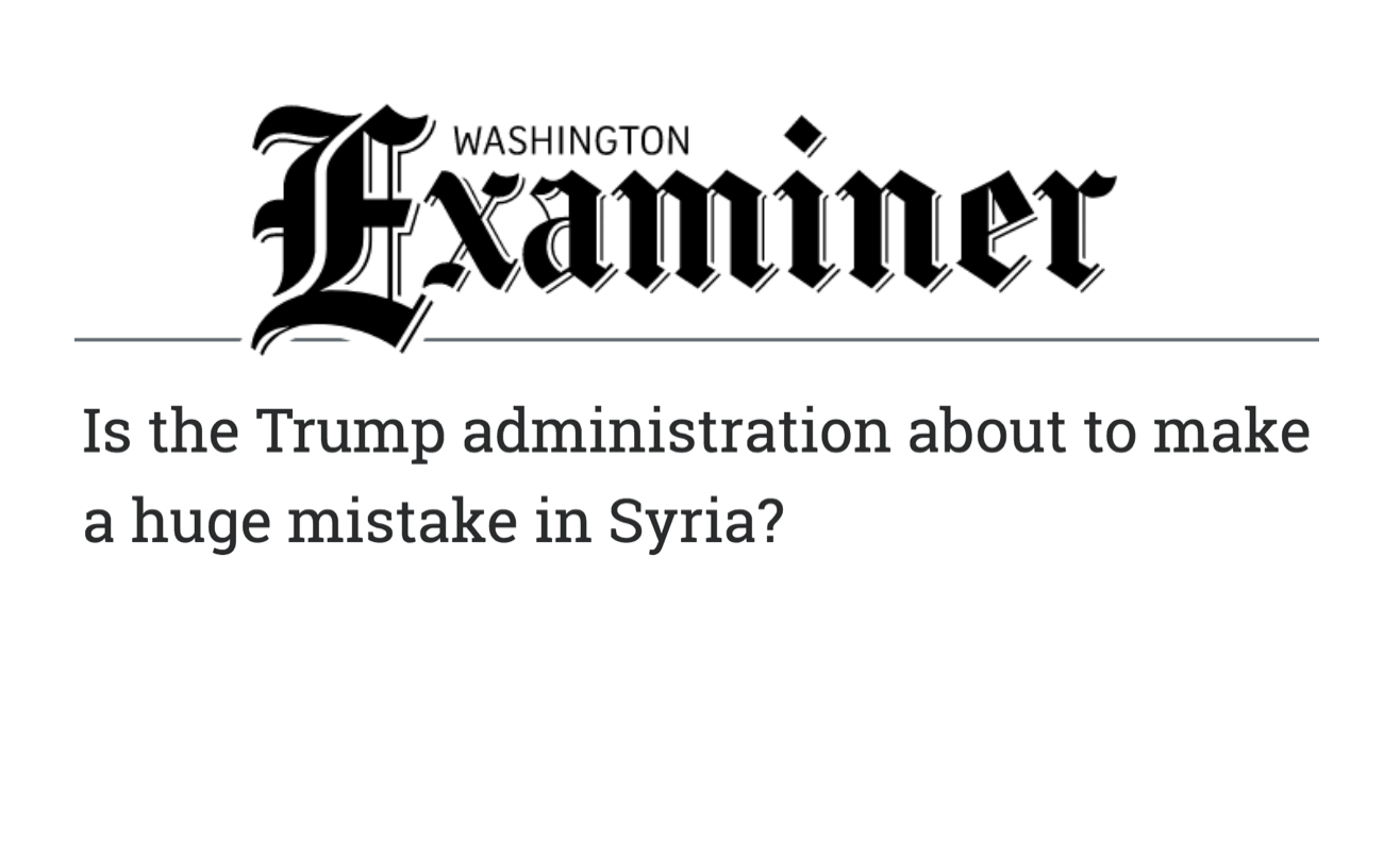 SAC GR Director, Mohamed Ghanem's Op-Ed in the Washington Examiner