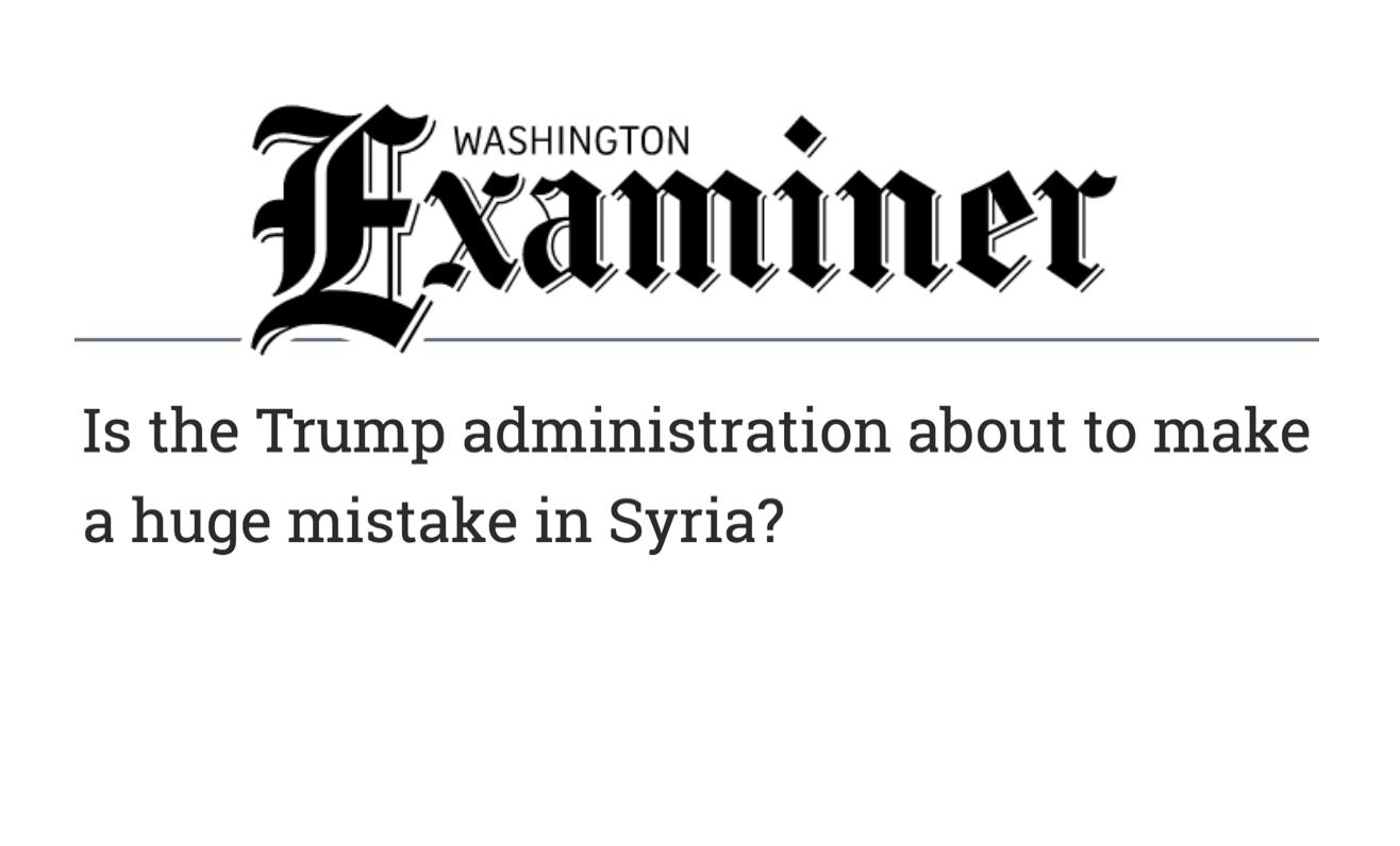 SAC GR Director, Mohamed Ghanem's Op-Ed in the Washington Examiner