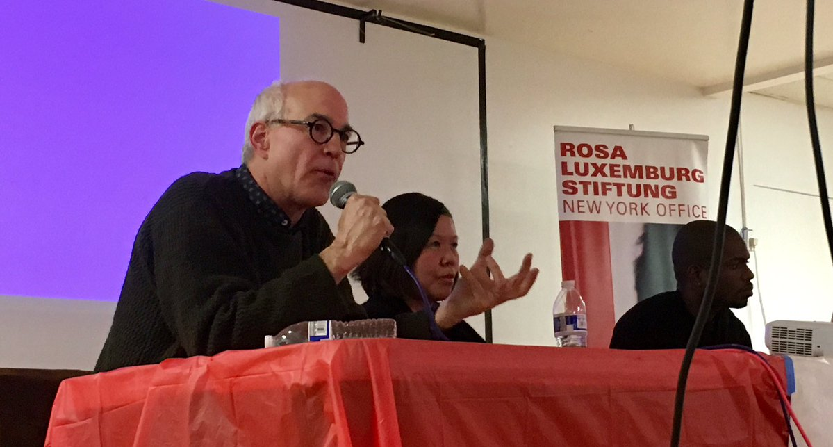 Michael Lighty at the Rosa Luxemburg Siftung in NYC