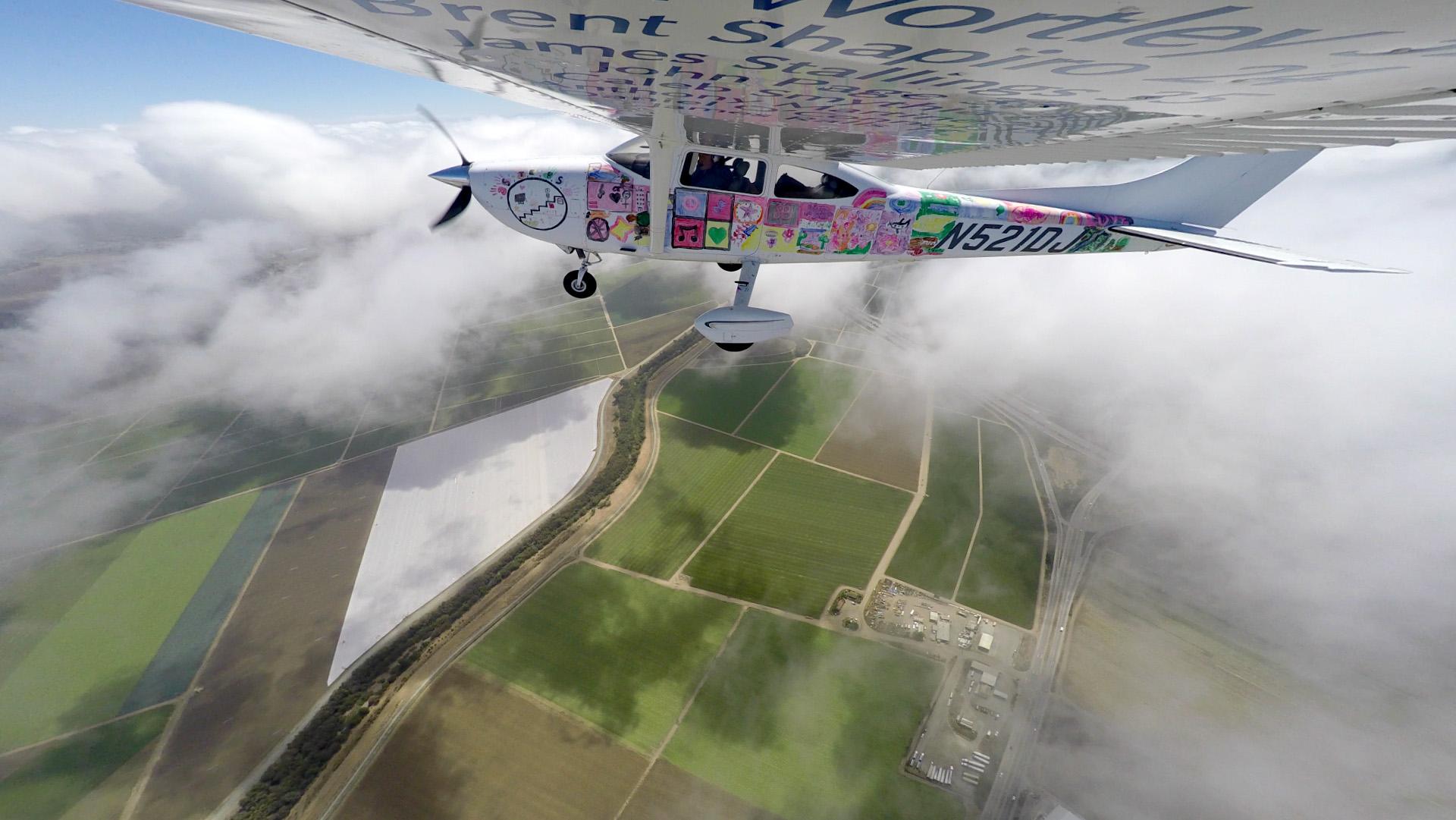 Flights Above Addiction in flight