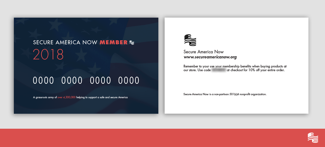 Secure America Now Membership Card