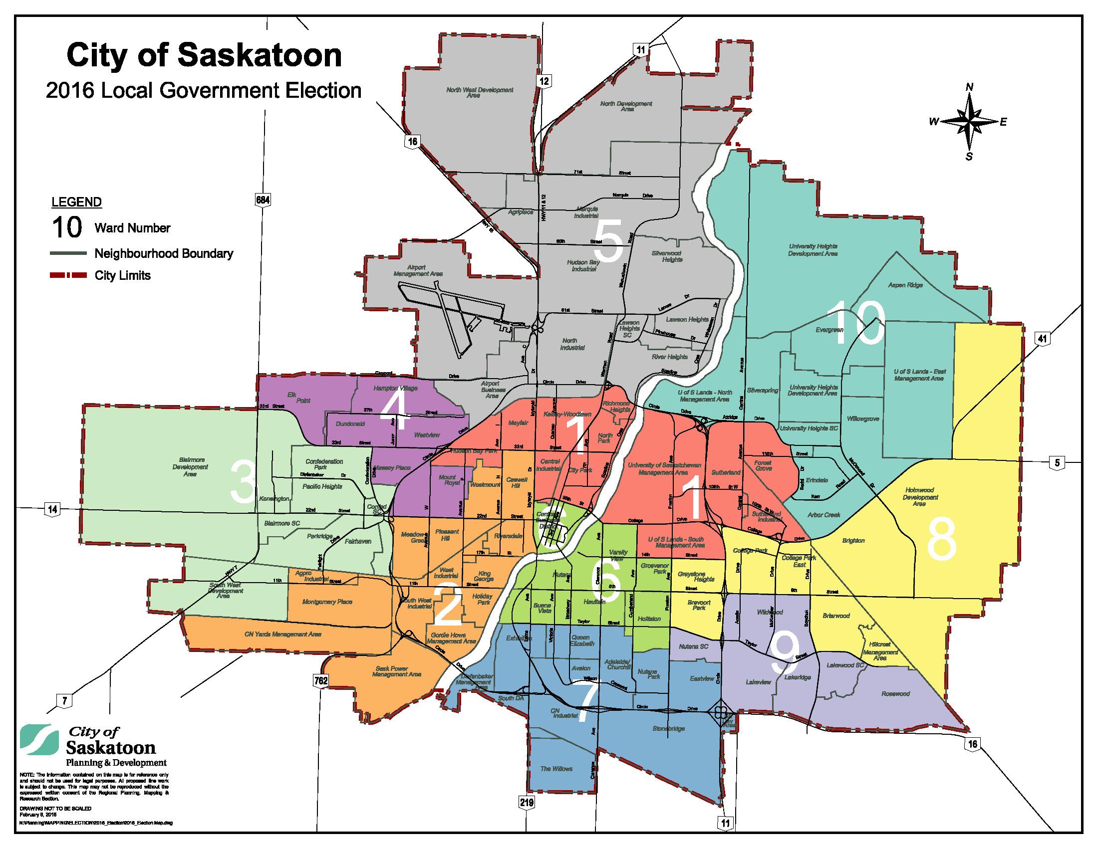 2016 Municipal Election Boundaries