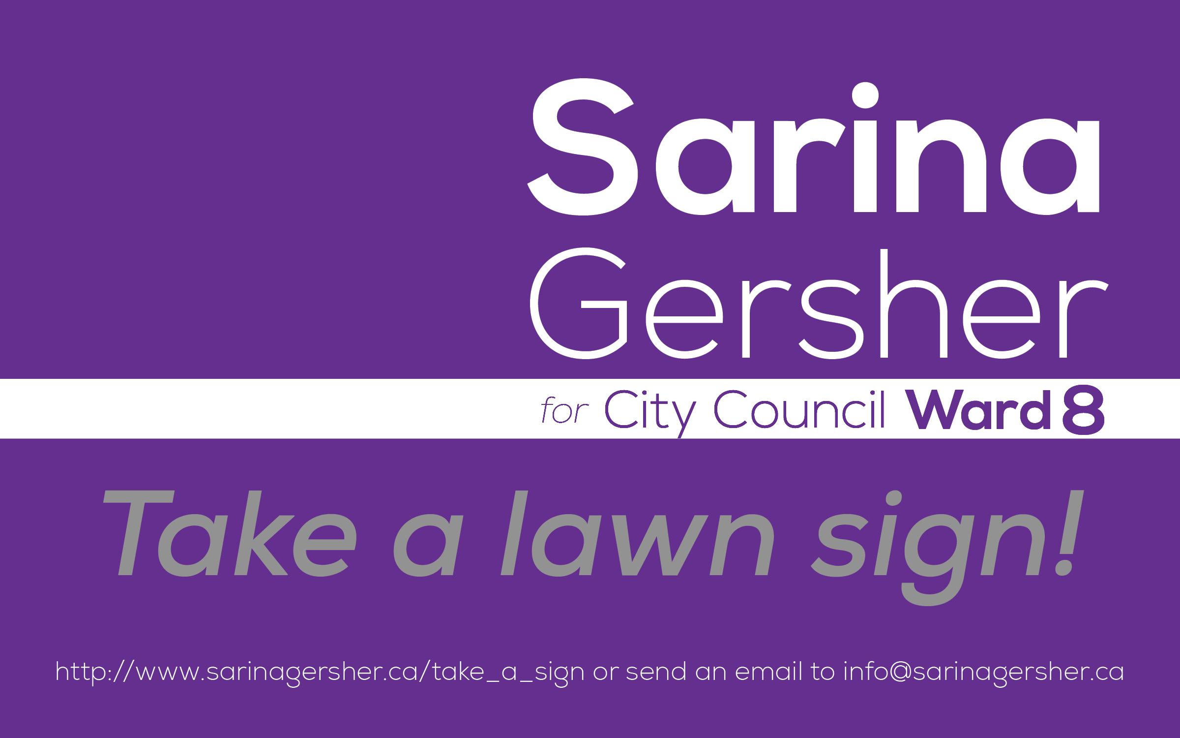 Take a lawn sign