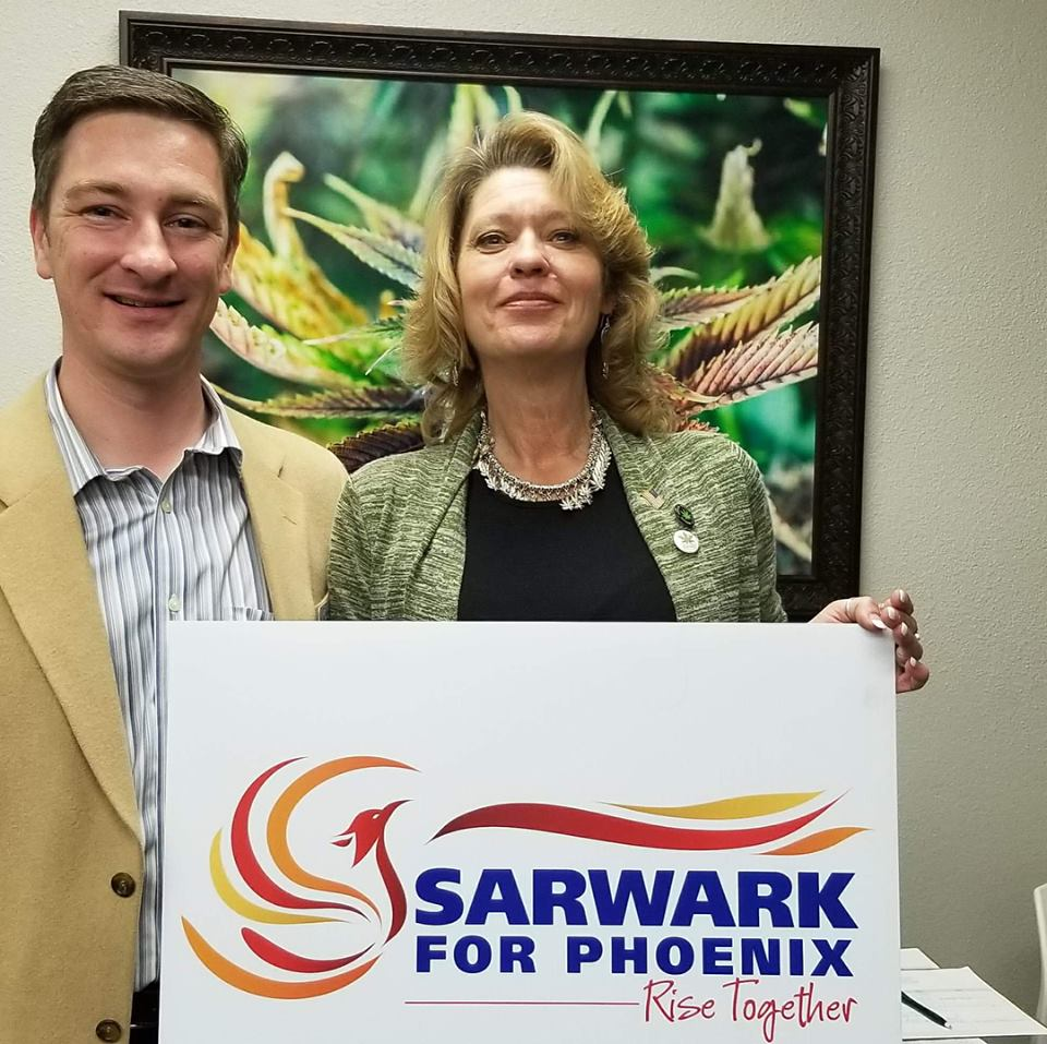 Nicholas Sarwark at the Phoenix Cannabis Coalition meeting