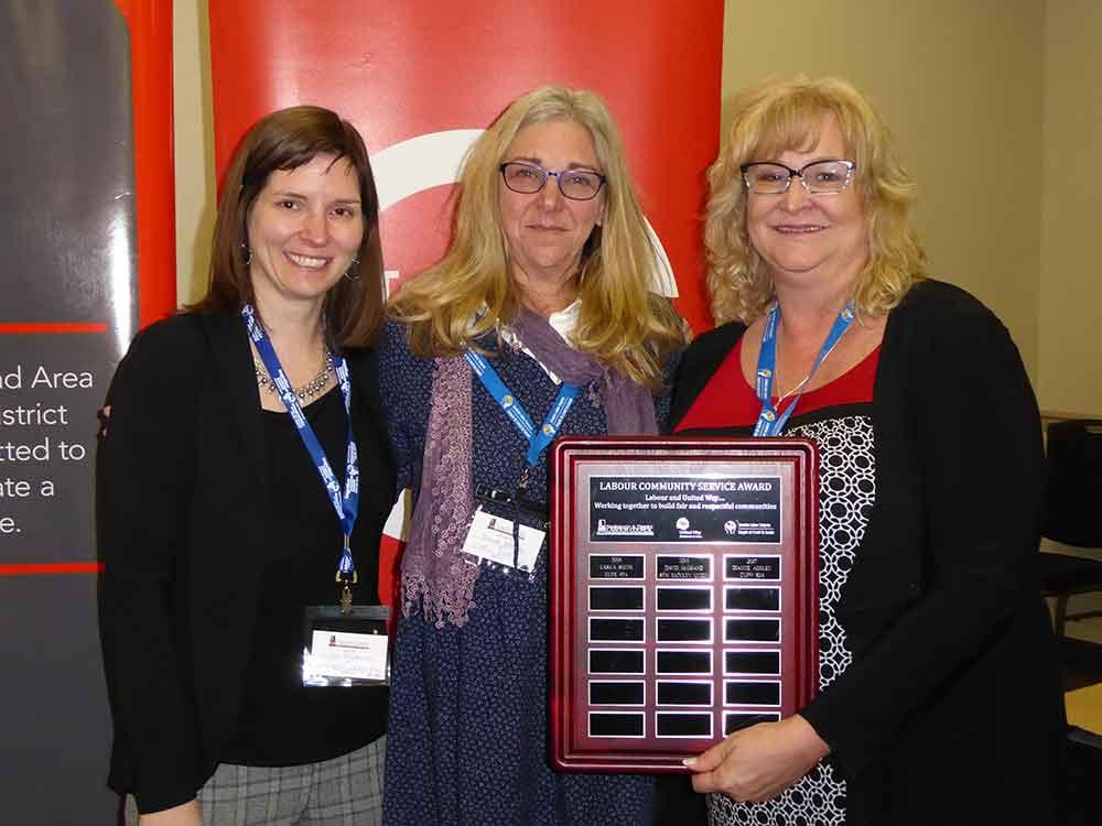 Labour community service award 2017