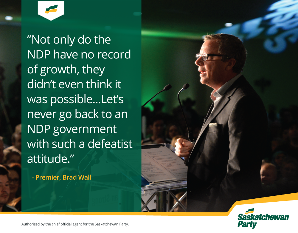 Premier Says NDP Talked While The Sask Party Delivered