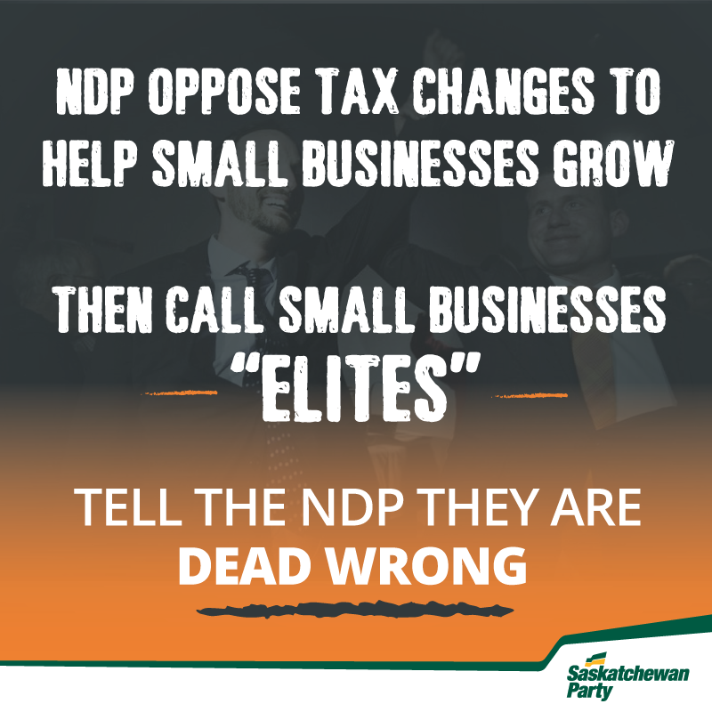 NDP call Saskatchewan Small Businesses