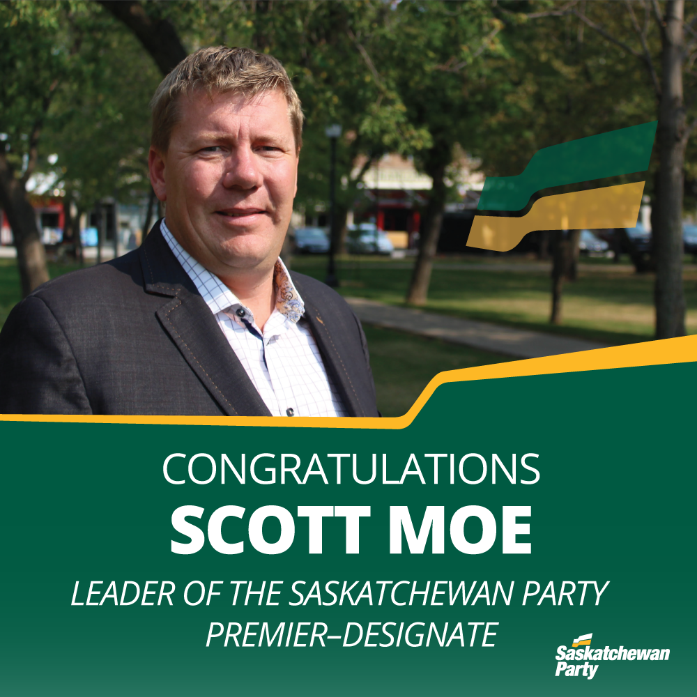 Scott Moe Elected Leader of Saskatchewan Party, Becomes Premier-designate of Saskatchewan