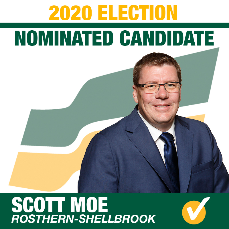 Premier Scott Moe is the First Nominated Saskatchewan Party Candidate for the 2020 Provincial Election