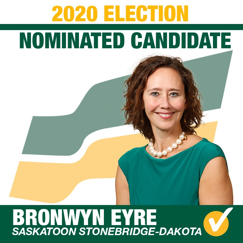 Bronwyn Eyre Acclaimed as Saskatchewan Party Candidate for the Constituency of Saskatoon Stonebridge-Dakota for 2020 Provincial Election