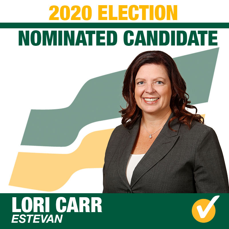 Lori Carr Acclaimed as the Saskatchewan Party Candidate for the constituency of Estevan for the 2020 Provincial Election