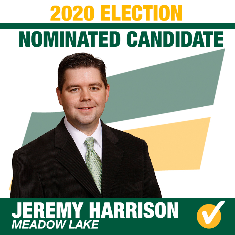 Jeremy Harrison Acclaimed as the Saskatchewan Party Candidate for Meadow Lake