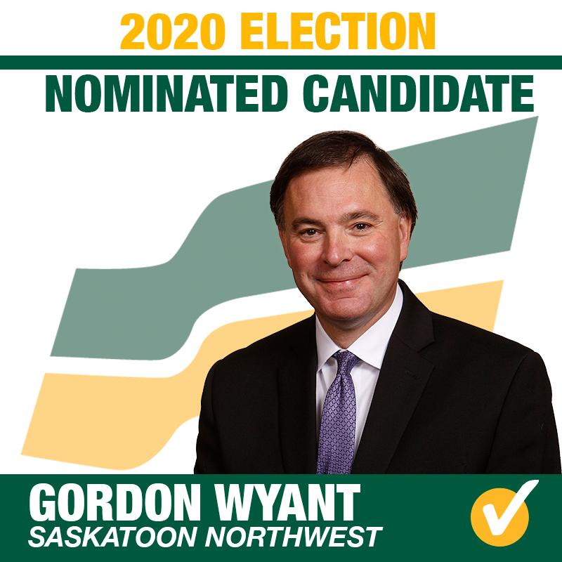 Gordon Wyant Acclaimed as the Saskatchewan Party Candidate for Saskatoon Northwest