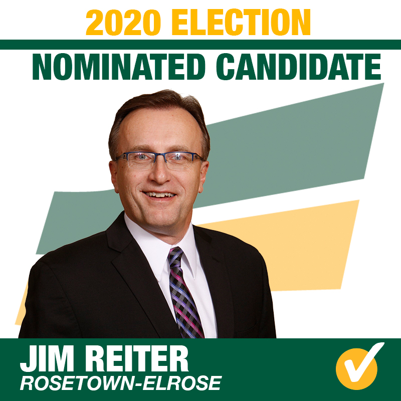 Jim Reiter Acclaimed as the Saskatchewan Party Candidate for Rosetown-Elrose