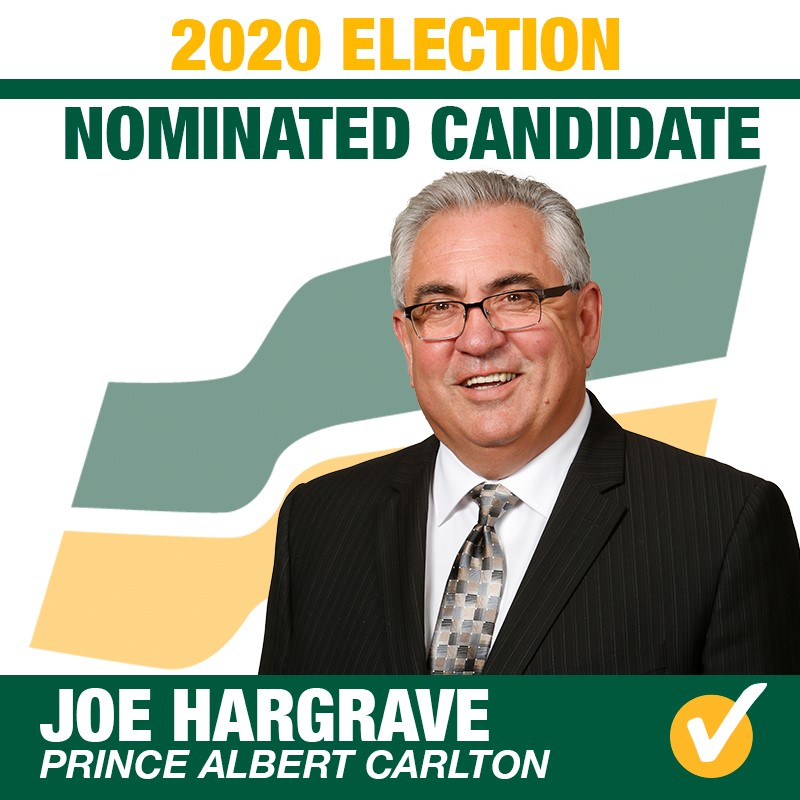 Joe Hargrave Acclaimed as the Saskatchewan Party Candidate for Prince Albert Carlton
