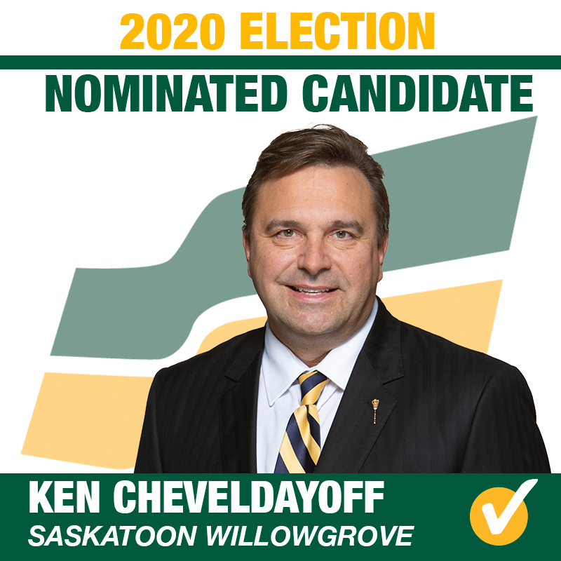 Ken Cheveldayoff Acclaimed as the Saskatchewan Party Candidate for Saskatoon Willowgrove