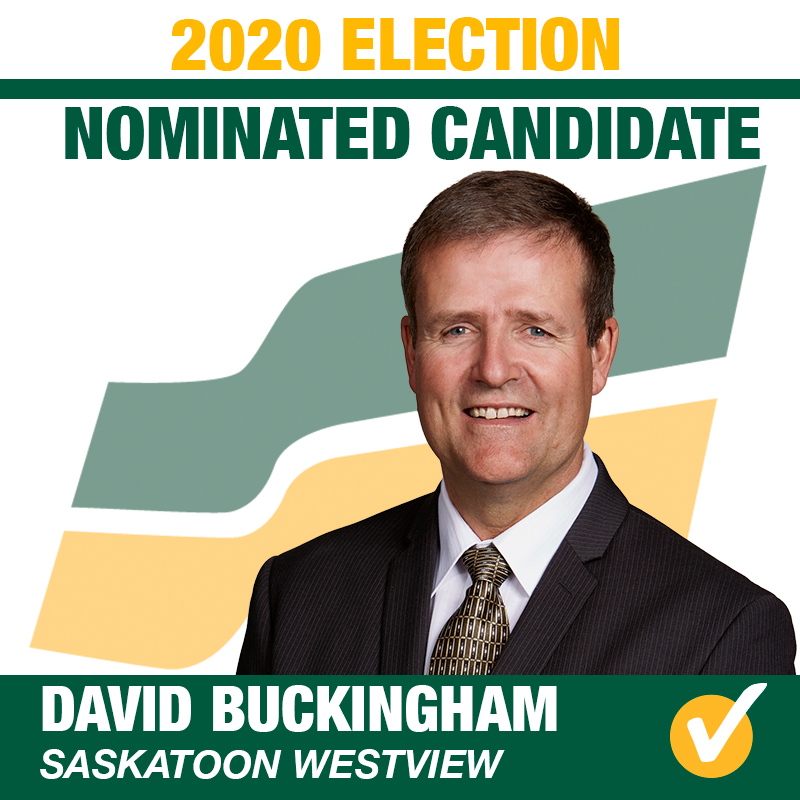 David Buckingham Acclaimed as the Saskatchewan Party Candidate for Saskatoon Westivew