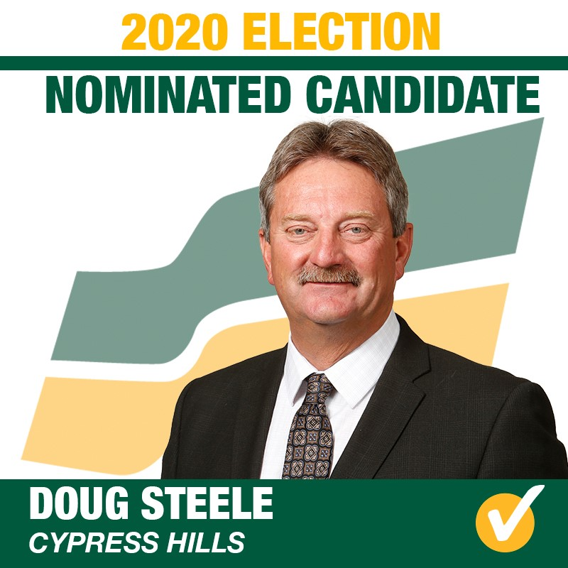 Doug Steele Acclaimed as the Saskatchewan Party Candidate for Cypress Hills