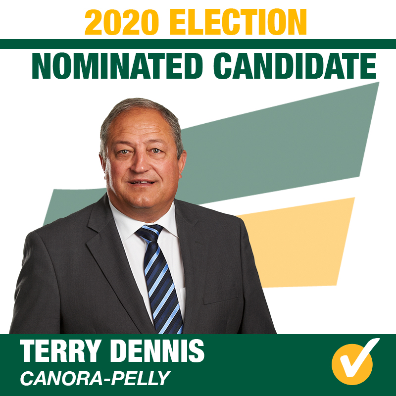 Terry Dennis Acclaimed as the Saskatchewan Party Candidate for Canora-Pelly
