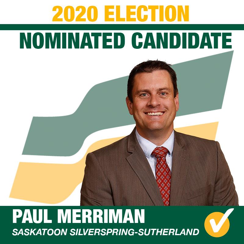 Paul Merriman Acclaimed as the Saskatchewan Party Candidate for Saskatoon Silverspring-Sutherland