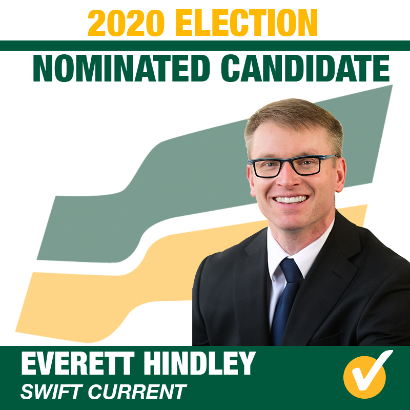 Everett Hindley Acclaimed as the Saskatchewan Party Candidate for Swift Current