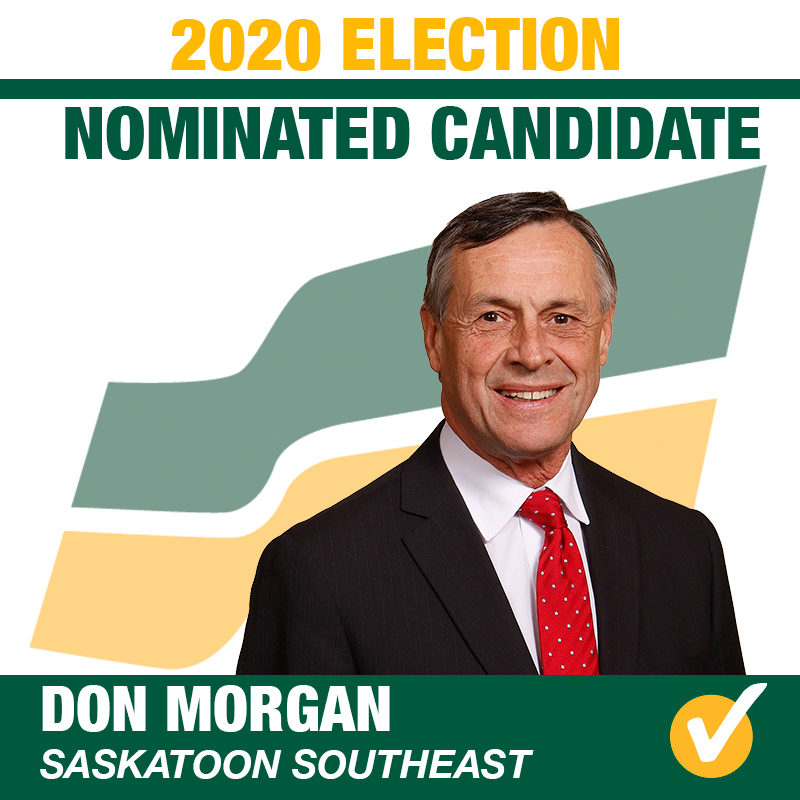 Don Morgan Acclaimed as Saskatchewan Party Candidate for Saskatoon Southeast