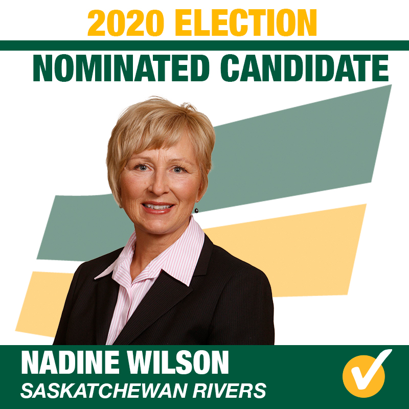 Nadine Wilson Acclaimed as Saskatchewan Party Candidate for Saskatchewan Rivers
