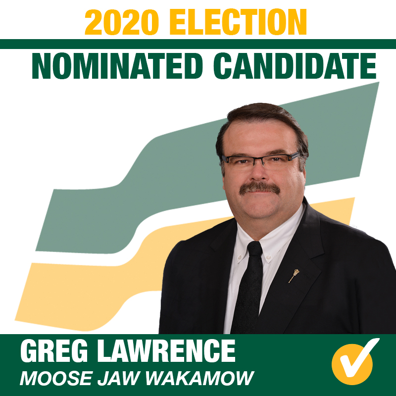 Greg Lawrence Acclaimed as the Saskatchewan Party Candidate for Moose Jaw Wakamow