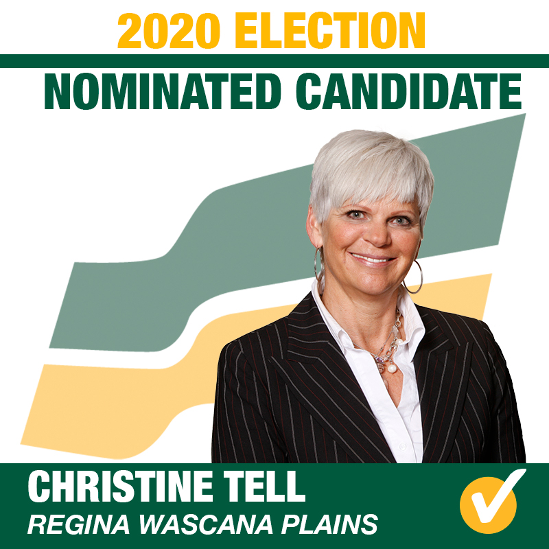 Christine Tell Acclaimed as the Saskatchewan Party Candidate for Regina Wascana Plains
