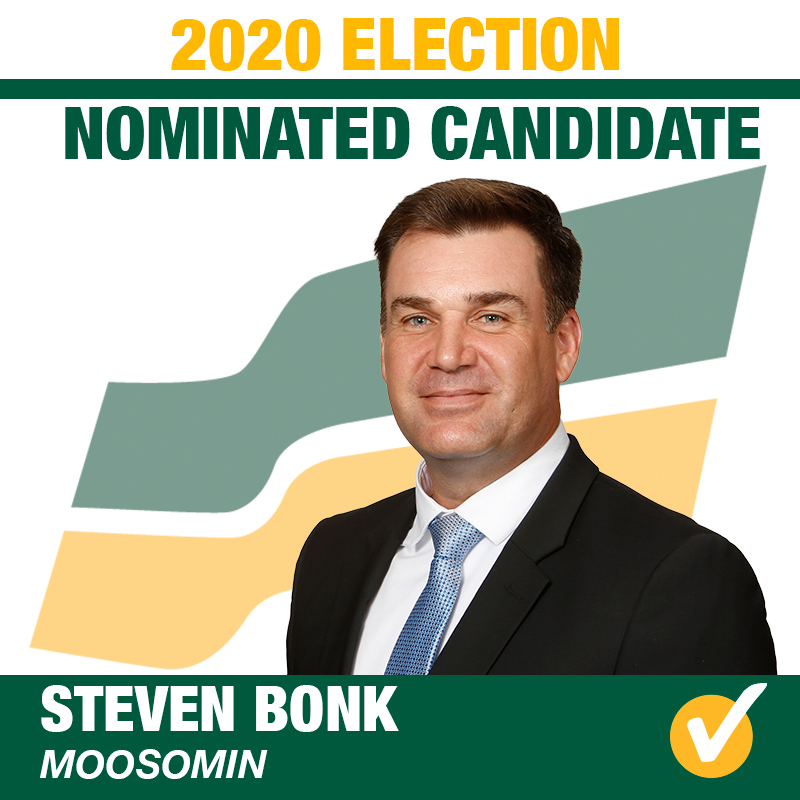 Steven Bonk Acclaimed as the Saskatchewan Party Candidate for Moosomin