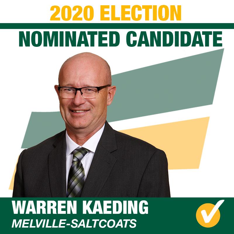 Warren Kaeding Acclaimed as Saskatchewan Party Candidate for Melville-Saltcoats