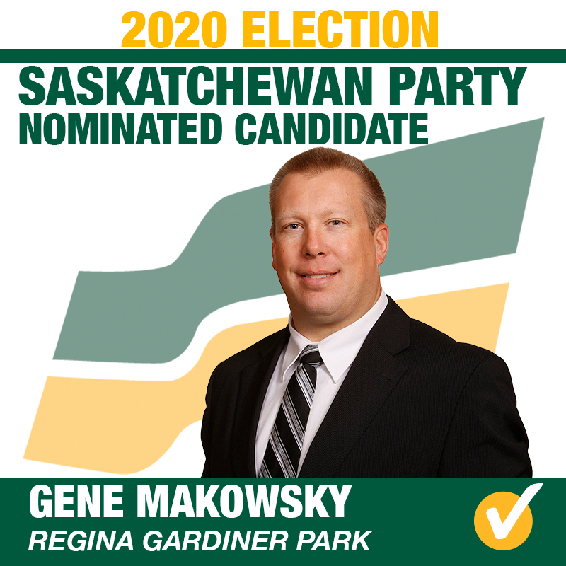 Gene Makowsky Acclaimed as Saskatchewan Party Candidate for Regina Gardiner Park