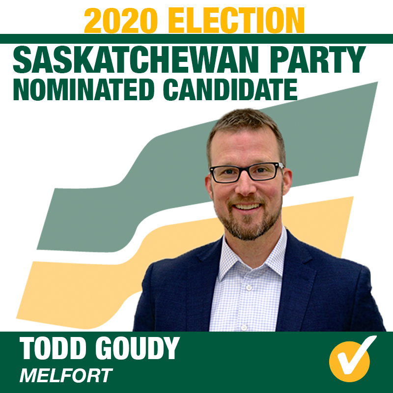 Todd Goudy acclaimed as Saskatchewan Party Candidate for Melfort
